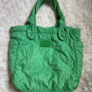 Marc Jacobs green tote bag
